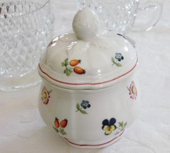 villeroy and boch petite fleur sugar bowl porcelain sugar. Black Bedroom Furniture Sets. Home Design Ideas