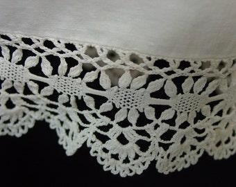 Vintage/Antique Slip,Sleeveless Dress, Tucks, Lace, Precious