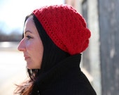 The Paris Slouch Hat in RED for Women/Teen, made to order