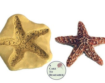 """Silicone 2"""" starfish Mold for cake decorating, chocolate mold, polymer clay mold, resin mold, wax mold, soap mold, silicone mould M1036"""