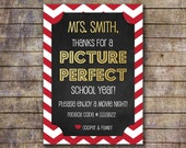 Printable Movie Night Themed Teacher Appreciation Gift Card Holder