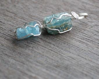 Aquamarine Sterling Silver Pendant #4394