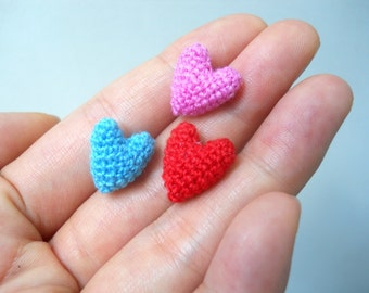 Micro Crocheted Heart - Made to Order