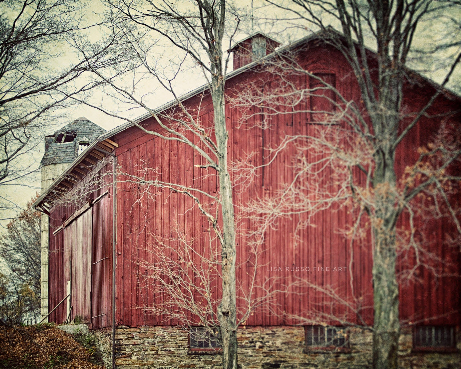 Red barn print or canvas art rustic home decor red country zoom amipublicfo Choice Image