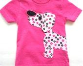 Pink Puppy Dog  T-Shirt, Baby Girls Shirt
