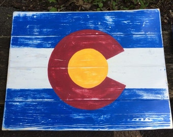 Colorado State Flag and Shape