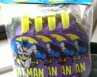 1982 Batman Blowouts/Party Favors/Noise Makers/Horns/Birthday Favors/Batman and Robin