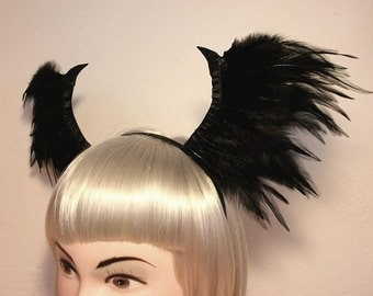 Gothic Wing Headband - Halloween