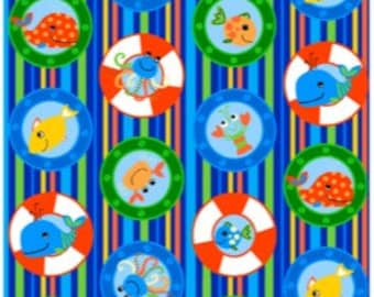 Oceans of fun 'Stripes' 100% cotton fabric