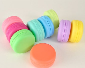 8 Cute Colorful MACARON Cosmetic Containers Plastic Lip Balm Gloss Jars Pots