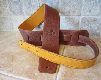 Customized Guitar Strap, Italian Leather - Handmade in USA -