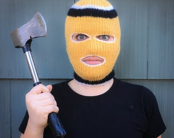 Retro Ski Mask - Knitting Pattern