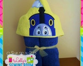 Thomas the Train hooded towel - can be personalized