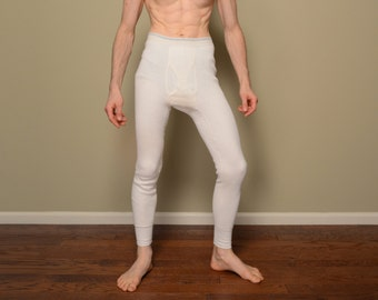 vintage 50s 60s thermal underwear Sears long johns cold weather drawers mens vintage underwear 1950 1960 medium M