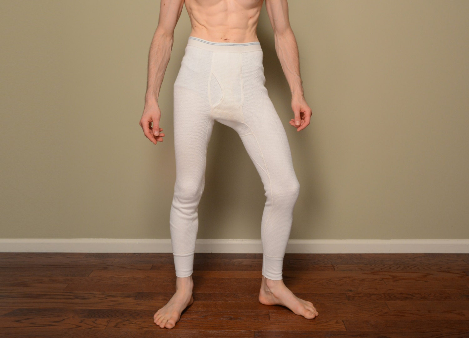 vintage 50s 60s thermal underwear Sears long johns cold