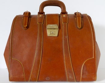 French Satchel Mad Mens Day Tripper Leather briefcase duffle bag