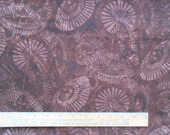 Marbled Light Brown Dark Brown Umbrella Parasol allover 1 Yard Bali Batik Quilting Cotton Fabric
