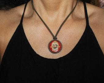 Hamsa necklace, Hamsa charm necklace, Evil eye necklace