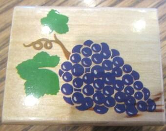 Wstamp Affair Grape Bunch X950 Wooden Rubber Stamp