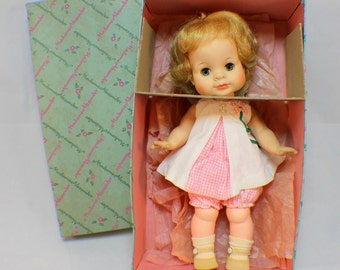 """Madame Alexander 12"""" Vintage Janie Doll in original box and clothes #1155"""