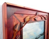 Custom Picture Frame Hand Crafted Rustic Wooden
