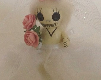 Custom order for Barbara Skanavis. Tiny catrina doll.