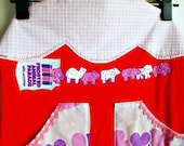 SALE Cute apron for women circus animal cookie apron upcycled aprons unique