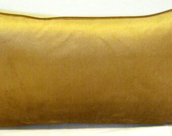 Velvet Camel beige gold pillow cover 12 X 24