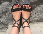 20% Strappy Sandals, Comfortable Leather Sandals, Roman Greek Style, Ankle Strap - Epic