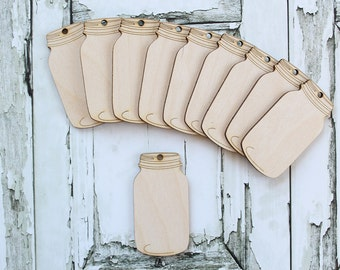 Mason Jar Gift Tag Mason Jar Banner Mason Jar Wedding Mason Jar Favors Wood Mason Jar Tags