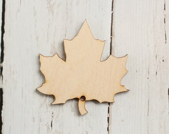Maple Leaf Cutouts Wood Maple Leaf Shape DIY Thanksgiving Banner Wishing Tree Tags Give Thanks Tree