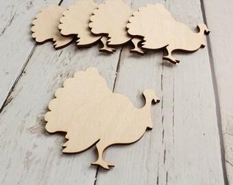 Turkey Cutout Wood Turkey Shape Thanksgiving Decor Thanksgiving Wreath Supplies