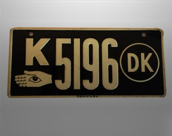 Vintage Mini Size Danish Denmark Auto License Plate Wheaties 1950s Cereal Premium