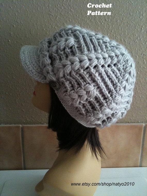 Free Crochet Chunky Newsboy Hat Pattern : INSTANT DOWNLOAD Alberta Newsboy Chunky Crochet Hat Pattern