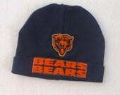 Chicago Bears Beanie / Football Hat / Navy Blue