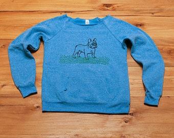 SALE French Bulldog Sweatshirt, size small