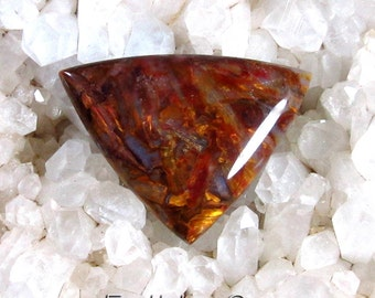 Red and Gold Pietersite Designer Cut Cabochon