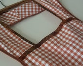 Vintage style Woman's Full Rust Gingham Country Apron