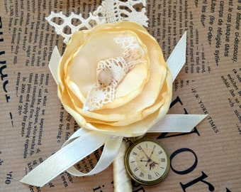 Boutonniere Custom Made by Satin