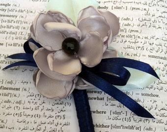 Satin Flower Wedding Butonniere
