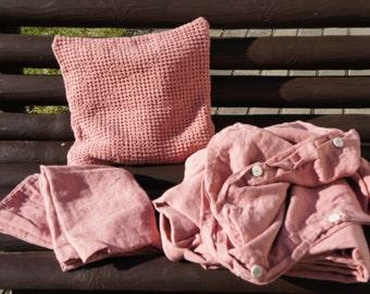 100% Washed Linen Bedding Duvet Cover