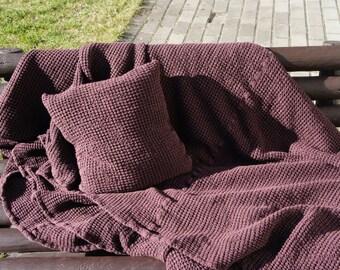 """Washed Linen Blanket         78.74"""" (200 cm.); length 90,55 """" (230 cm)"""
