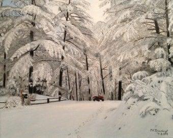 Four Wheeler in the Snow
