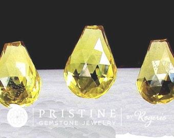 Citrine Briolette Set Fancy Cut Gemstones Over 50 Carats November Birthstone for Pendant and Earrings