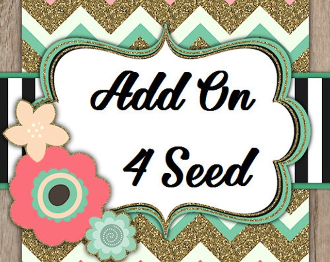 Add on Pack Four Flower Seed Favors SALE CIJ Christmas in July