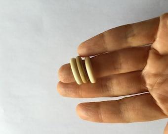 Vintage Stackable Rings, Set f Three, Bone, Plastic, Celluloid
