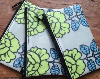 Marimekko Finland Vihkiruusu, apple green, oil cloth fabric coin purse, super cute