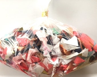 Ready to ship, 5 ounce bag of tissue paper confetti shred