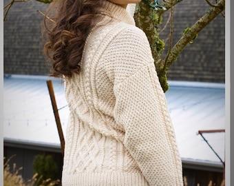 Hand knit sweater, knit cardigan, Women's Clothing, Sweater, Women's sweater, Hand Knit Sweater, Cable sweater