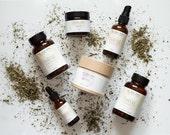 THRIVE. Full skincare ritual. Natural. Vegan. Organic. Dry to mature skin.